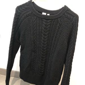 Black plain Gap crew neck sweater - women's